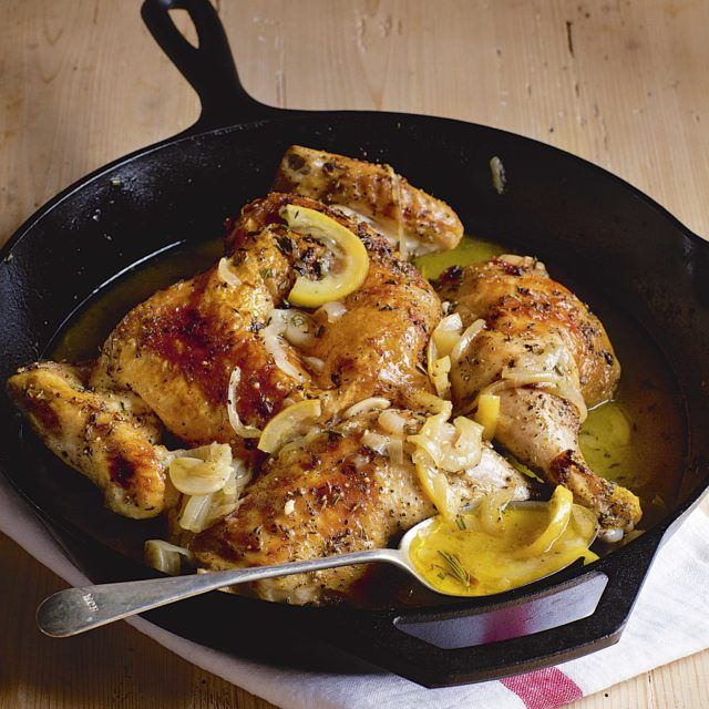 Skillet-Roasted Lemon Chicken - Barefoot Contessa  #Chicken #Lemon