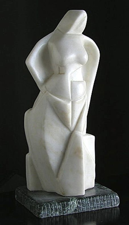 Flamenco: Portuguese Marble 18″x8″x7″ One of my favorites on exhibit at the studio in CT. By appointment .