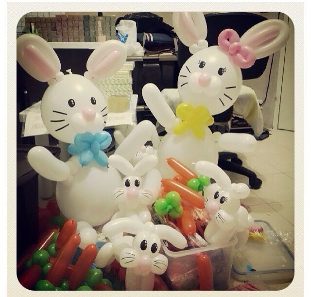 Easter Bunny Balloon Animals