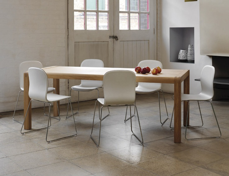 Isaac Dining Chairs Teamed With The Radius Table Habitat