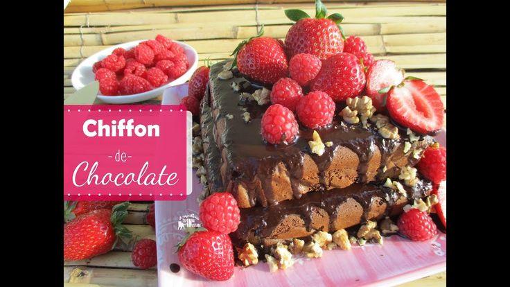Chiffon de Chocolate sem glúten e sem açúcar | Gluten-free and Sugar-fre...