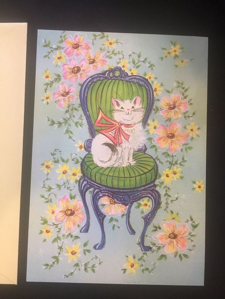 Vintage Greeting Card Unused - Floral Chromes from GJC Exclusive Collection    eBay
