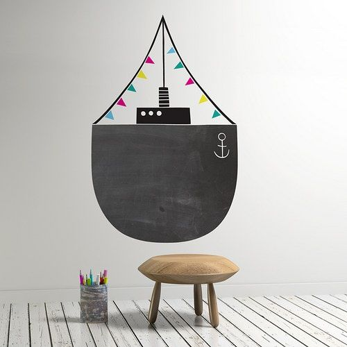 BLACK & WHITE FOR BOYS - chalkboard paint: