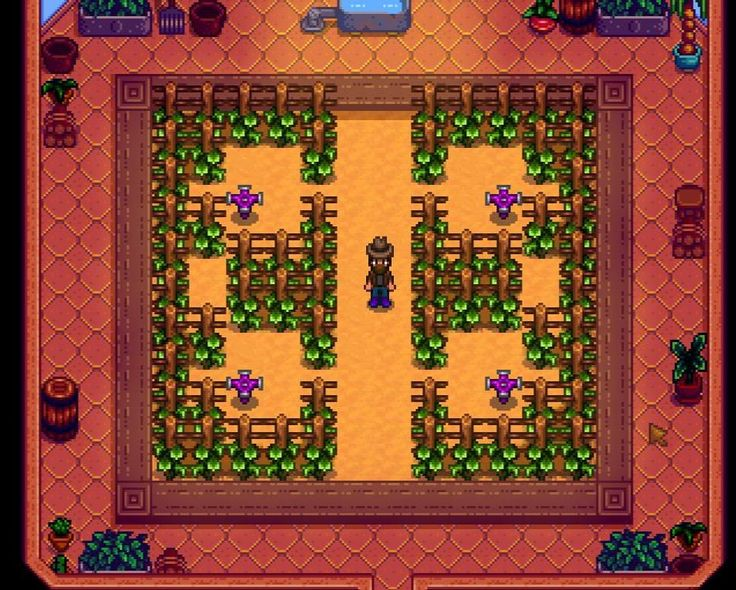 Image result for stardew valley iridium sprinkler layout