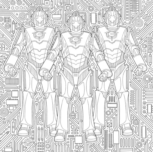 """Here's A Look Inside The New """"Doctor Who"""" Coloring Book"""