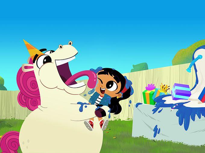De Tudo Um Pouco Disney Junior Adquire Go Away Unicorn Disney Junior Disney Desenho Animado