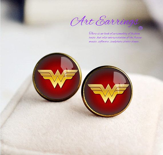 Wonder Woman Earrings, Bronzen Earring , women Earrings, Stud earrings, Unique Earring for Woman on Etsy, $10.99