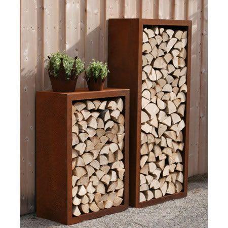 rost garten feuerholz regal rostiges pinterest firewood. Black Bedroom Furniture Sets. Home Design Ideas