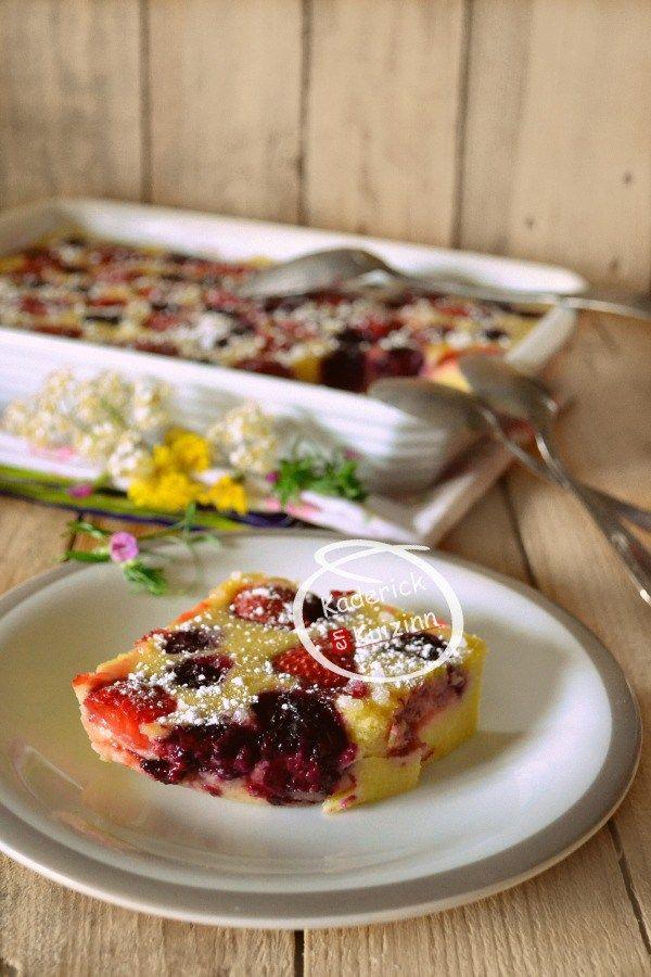 Dégustation clafoutis fraises mûres lait amande à l'Omnicuiseur chez Kaderick en Kuizinn