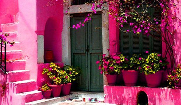 Fachadas Magenta Home Arte Y Cultura Rosa Mexicano