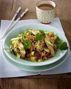 Das Rezept für Bratnudeln mit Hähnchenfilet in Sesam-Curry-Soße und weitere kostenlose Rezepte auf LECKER.de