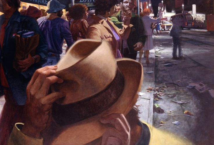 Robert Birmelin. American 1933–. The City Crowd – Night (The Hat). 1980-1981