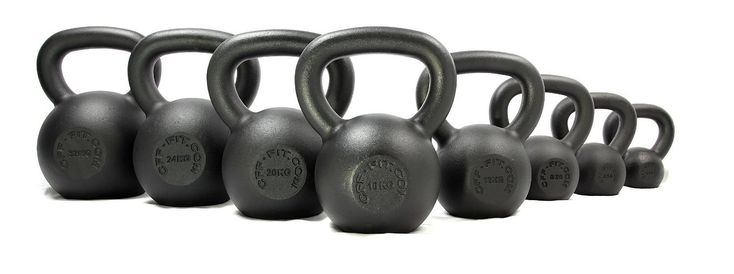 CFF Powder Coated Russian Kettlebell, 12kg. Matte powder coating provides superior grip compared to glossy enamel, and resists chipping. Kettlebell is from one solid cast, no welds. Flat bottom provides a stable base perfect for renegade rows. Easy to read sizing.