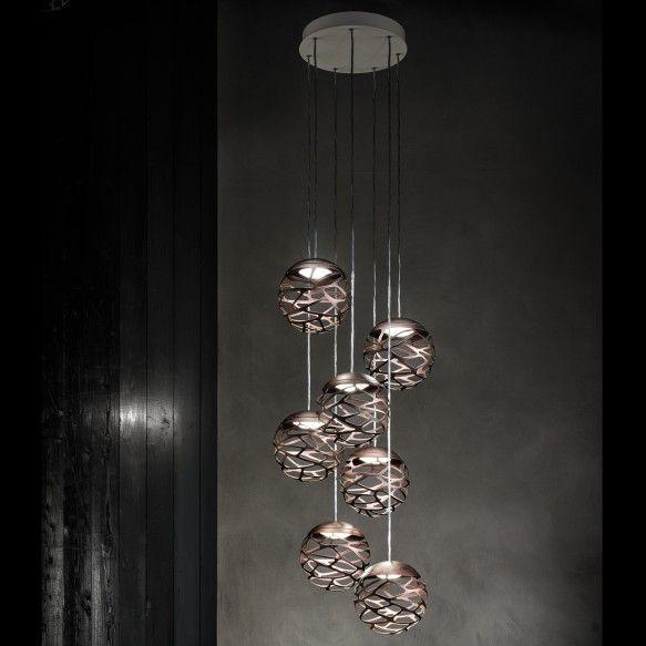 Studio Italia Design KELLY CLUSTER LED Pendelleuchte 7 Flammig