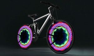 Groupon - 32-LED Colourful Bike Wheel Flashlight Lamp: One ($ 15) or Two ($25) . Groupon deal price: $15