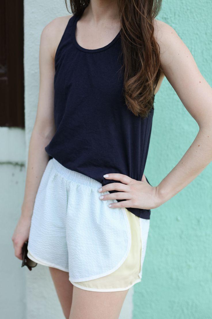Caralina Style: Blue Porter Boutique Seersucker Shorts