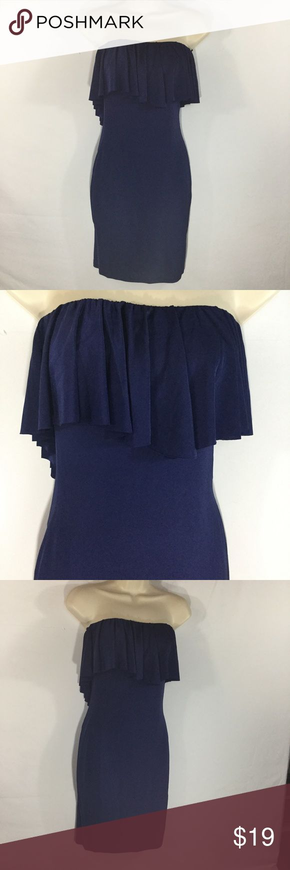 "🆕NAVY STRAPLESS RUFFLED CASUAL DRESS SIZE S Nordstrom's Dress the Population indigo blue, strapless, ruffled, casual mini dress. NWOT, Perfect Condition.  Size S Bust 13 1/4"" Waist 12"" Length 28"" 93% Polyester, 7% Lycra  Please comment with any questions and feel free to make an offer with the blue button! ⭐️ Purchase by noon EST and item(s) ship the same day!  Per Bundle items and save! Free shipping on all items over $20, just offer $6.00 less and I will accept. Happy Poshing 😊 Dress The…"