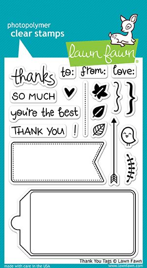 Lawn Fawn - Clear Acrylic Stamps - Thank You Tags at Scrapbook.com