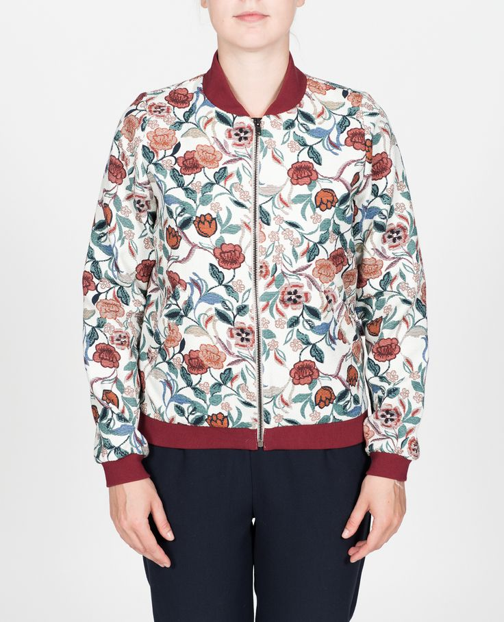 R-Collection Flower bomber 100% cotton
