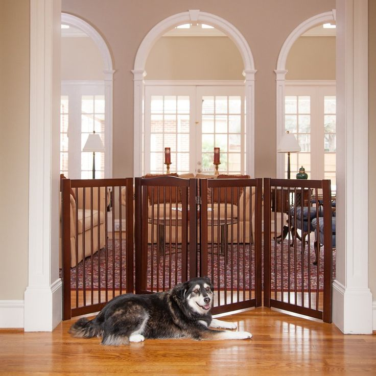 Give the traditional pet gate a fashionable makeover with the Primetime Petz 360 Configurable Gate with Door. Made from chew-resistant solid wood, this stylish gate actually elevates your décor while keeping your pets safely contained in your room of choice. The revolutionary hinge design opens and folds in any direction, allow countless ways to contain your pet, including as a gate between rooms, to close off a corner, or as a pen. It's freestanding, which means no complicated installation…