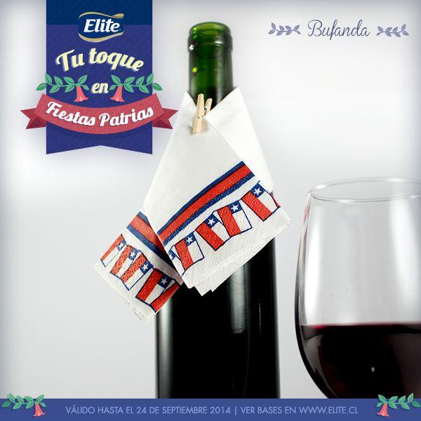 Bufanda para botellas con servilletas ELITE FIESTAS PATRIAS 2014