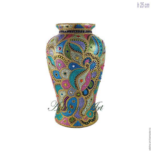 Вазы ручной работы. Ярмарка Мастеров - ручная работа. Купить КАРНАВАЛ В РИО ваза Точечная роспись. Handmade. вазы