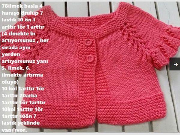 Elbise Şeklinde Pileli Bebek Yeleği Yapılışı 3