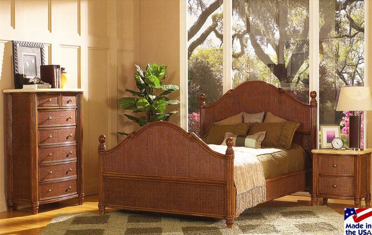 The 19 best images about rattan and wicker complete beds for Tropical bedroom furniture
