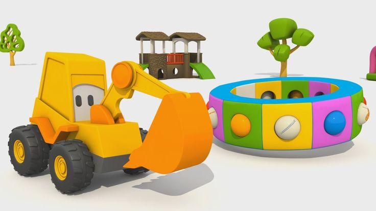 Cartoni Animati per Bambini: L'escavatore Max e gli strumenti musicali.