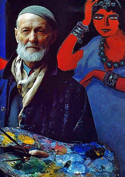 "Dutch Fauvist painter Kees van Dongen (1877-1965) by Russian-American photographer & artist Alexander Liberman (1912 -1999) for ""The Artist in His Studio,"" published 1960. via sitios en el corazón"
