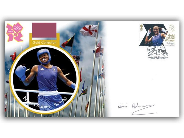 London 2012 Olympic Gold Medal Winners cover. Personally Autographed by Nicola Adams. Women's Boxing