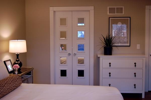 cool mirror idea on closet door bedrooms pinterest