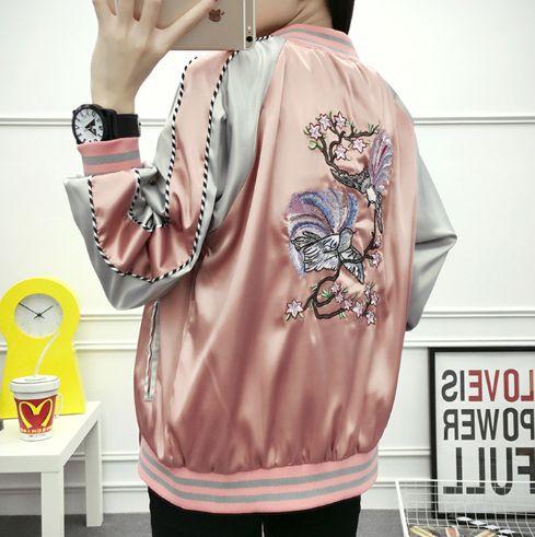 Harajuku embroidery couples baseball jacket SE9533