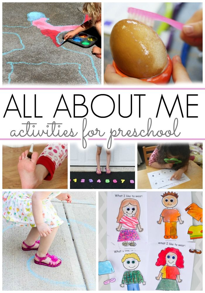 Activities For All About Me Theme Teaching Preschool