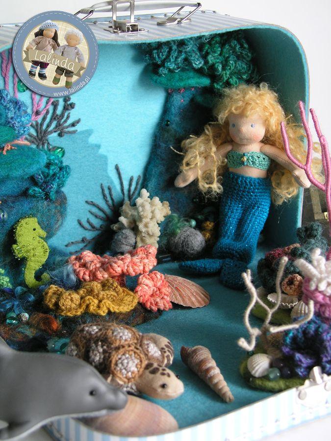 Underwater world - suitcase play set by Lalinda.pl