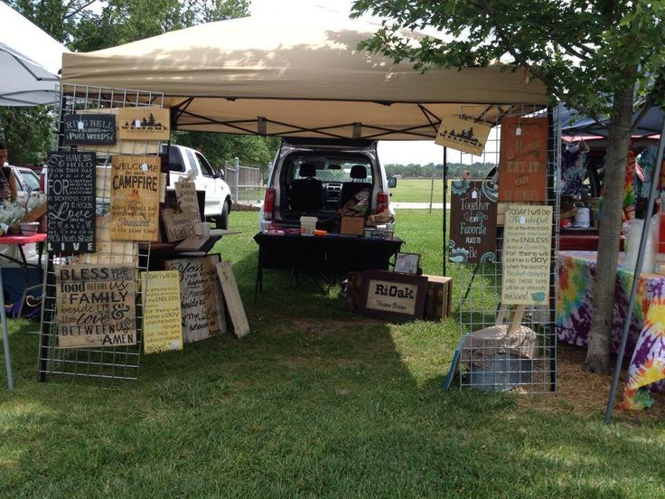 Sedalia area farmer 39 s market in missouri set up to sell for How to display wood signs at craft show