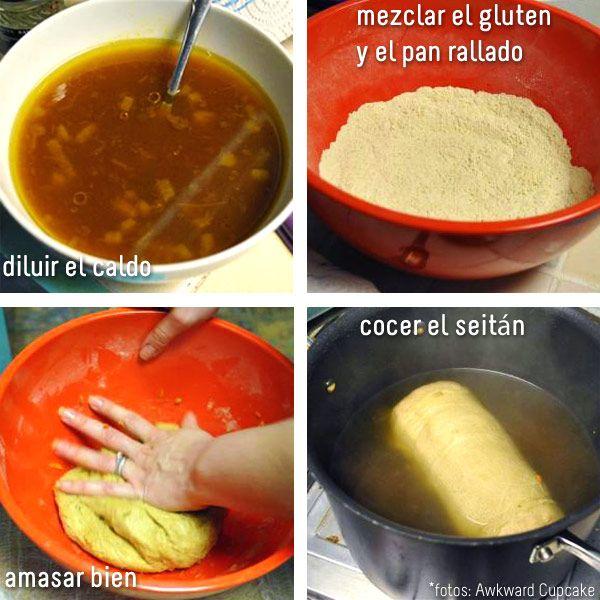 como hacer seitan con gluten de trigo
