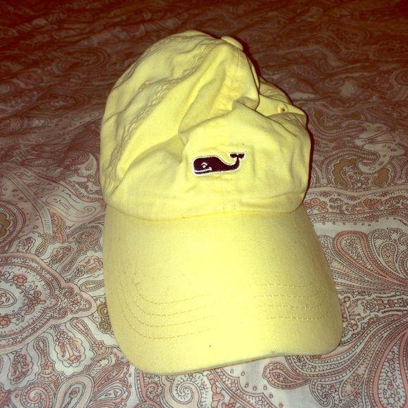 Authentic Vineyard Vines hat Lightly used yellow vineyard vines hat! Vineyard Vines Accessories Hats