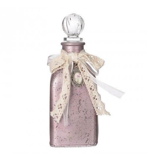 GLASS BOTTLE IN PURPLE COLOR 6X6X13