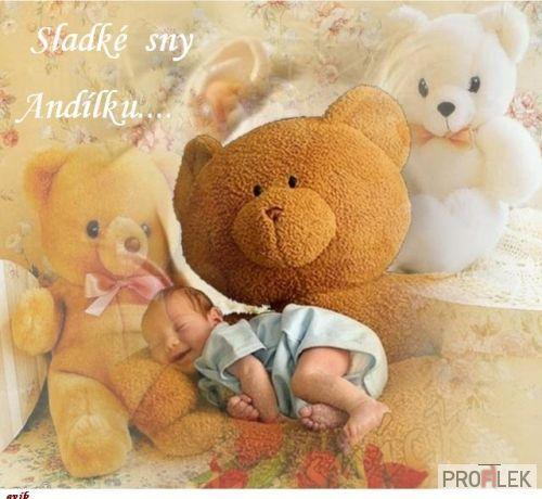 Pokojnú noc a sladké sníčky, nech vám všetkých opatrujú anjeličky :)