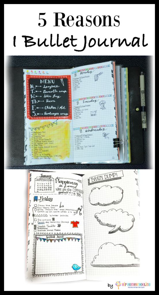 5 reasons I bullet journal by Hip HomeSchooling