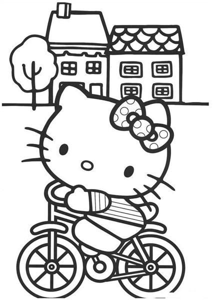 hello kitty coloring pages ...