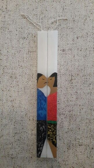"Handmade easter candles by Glykeria. ""People"""