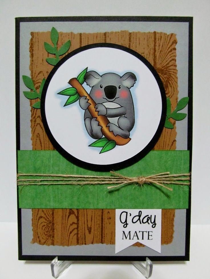 Savvy Handmade Cards: G'day Mate Koala Card