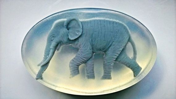 Glyceryne Soap Happy Elephant hand made by AlSaponeHandmadeSoap