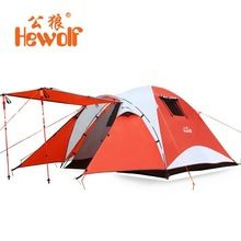 Hewolf Waterproof Beach Fishing Tents 4 Person Outdoor Camping Tent Travel Family Bivvy Tourist Tent Hunting Camping Equipment