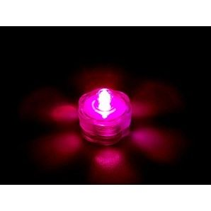 Submersible LED Lights Pink 12 pieces by BlueDotTrading.com