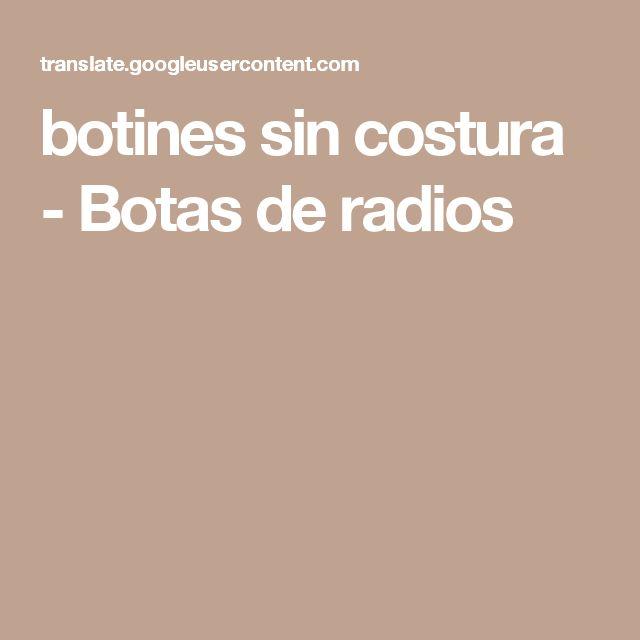 botines sin costura - Botas de radios