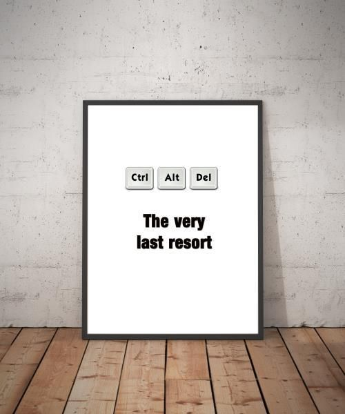 "This geek – "" The very last resort "" makes the perfect gift for that favorite Geek, Nerd, special someone or that person that needs anything Geek!"