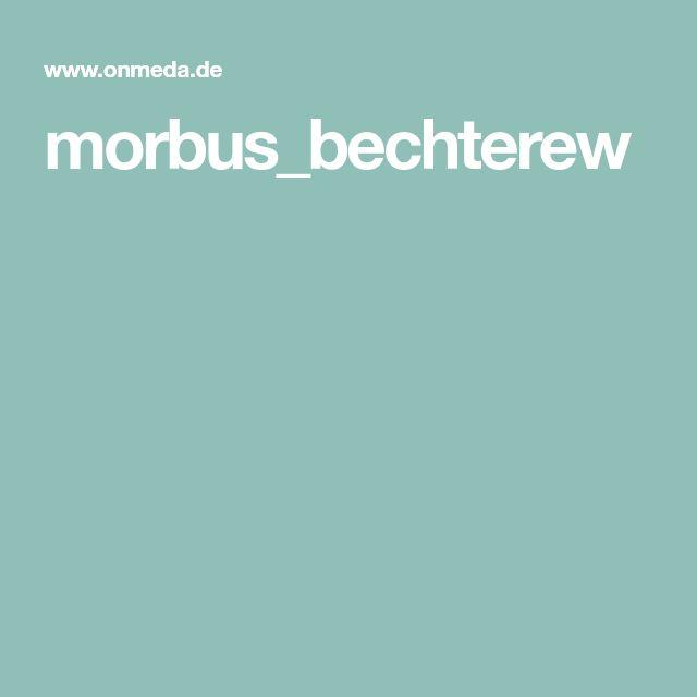 morbus_bechterew Gesundheit Pinterest